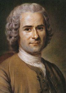 Portret Jean Jacques Rousseau